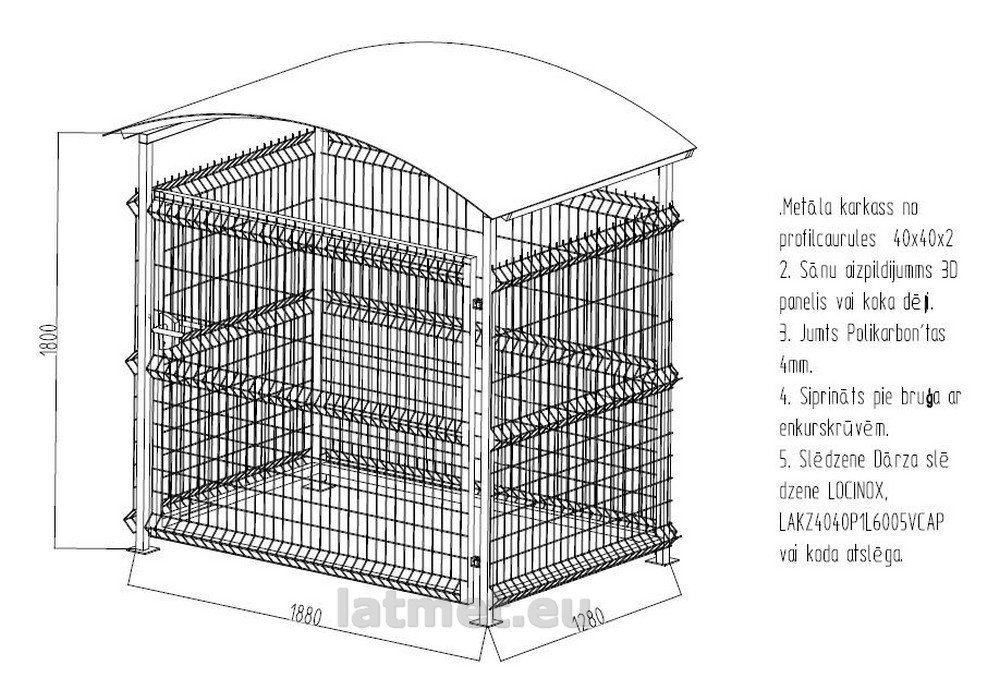 Atkritumu konteinera nojume