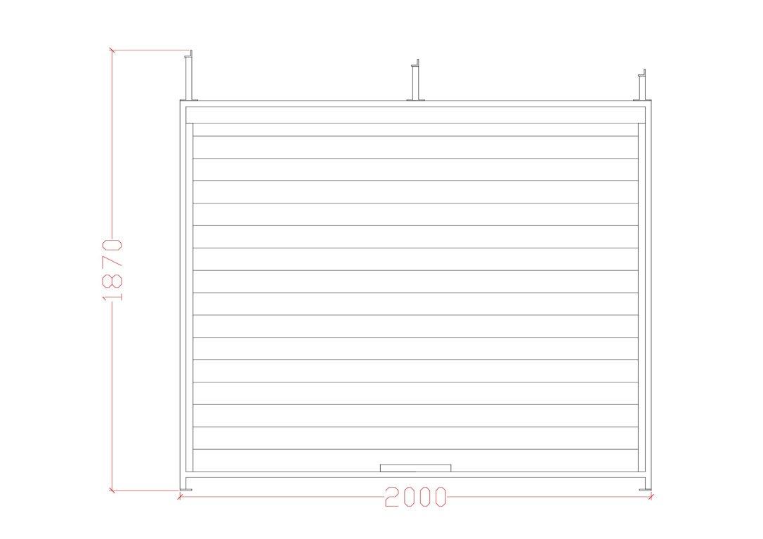 Voljēra sānu siena (Metāla rāmis, koka aizpildījums) 2000, Zn