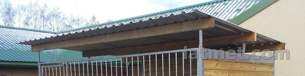 Vojēra jumta segums 3300x2500 (Trapecveida segums ZN, Koka latas)