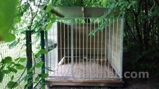 Voljēra sānu siena ar durvīm (metāla), 2000, ZN