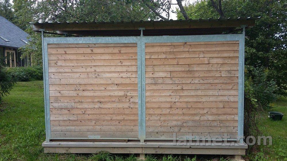Voljēra aizmugure vai priekša siena (dalīta, puse) 1500mm, zn