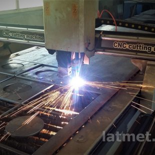 CNC plasma cutter 1500x6000, 100A, 20mm, round pipe cutting, drilling station